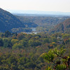 083 View through gap into Shenandoah Valley from Weverton Cliffs