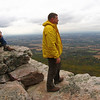 046 Doug enjoys Black Rock Cliffs view into Cumberland Valley