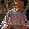 074 Peggy holding a common garter snake (Thamnophis sirtalis)
