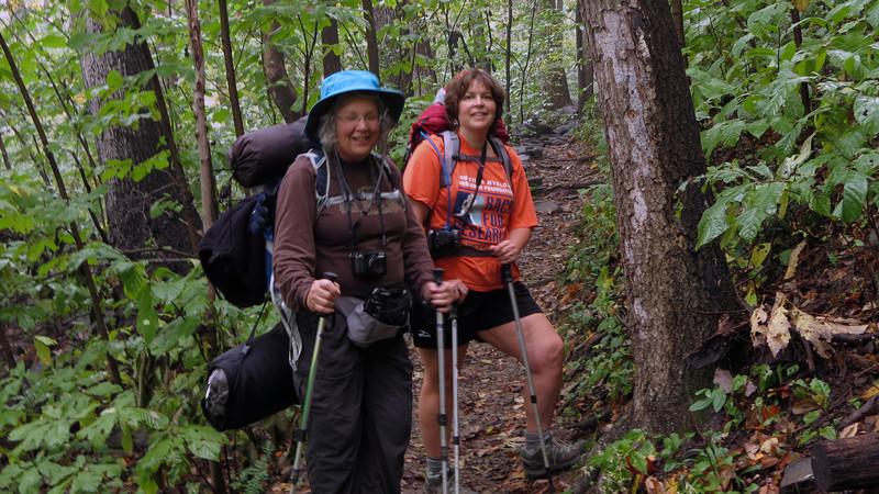 Beth & Peggy_AT climbing South Mtn