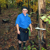 AT Hiker Rick with his tree table prototype
