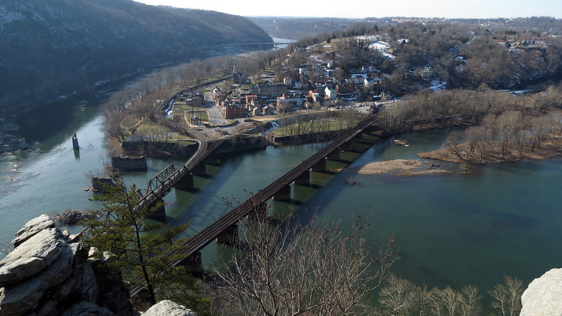 39 Town of Harpers Ferry, WV below Maryland Heights