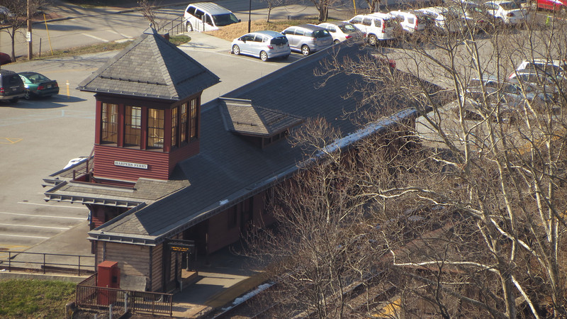 34 Harpers Ferry Train Station viewed from Maryland Heights