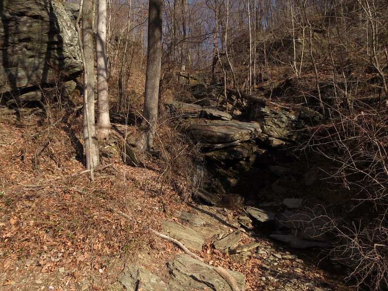 01 Small stream waterfall on Harpers Ferry Road
