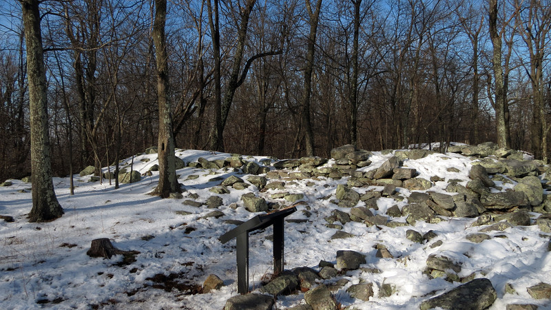 73 Stone Fort Ruins at the summit of Maryland Heights