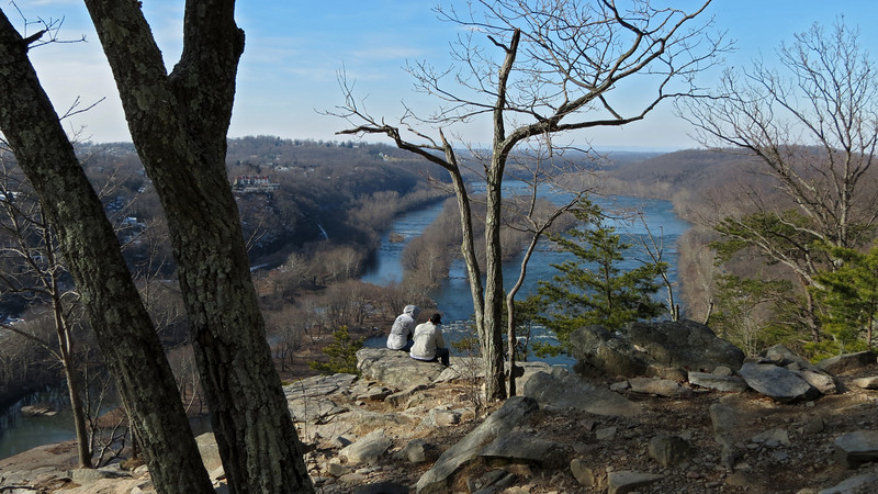 48 Couple of hikers enjoying the Maryland Heights views