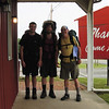 Jacob (26), Andrew (21), and John (too old at 65) after a last good breakfast at The Barn in Groseclose