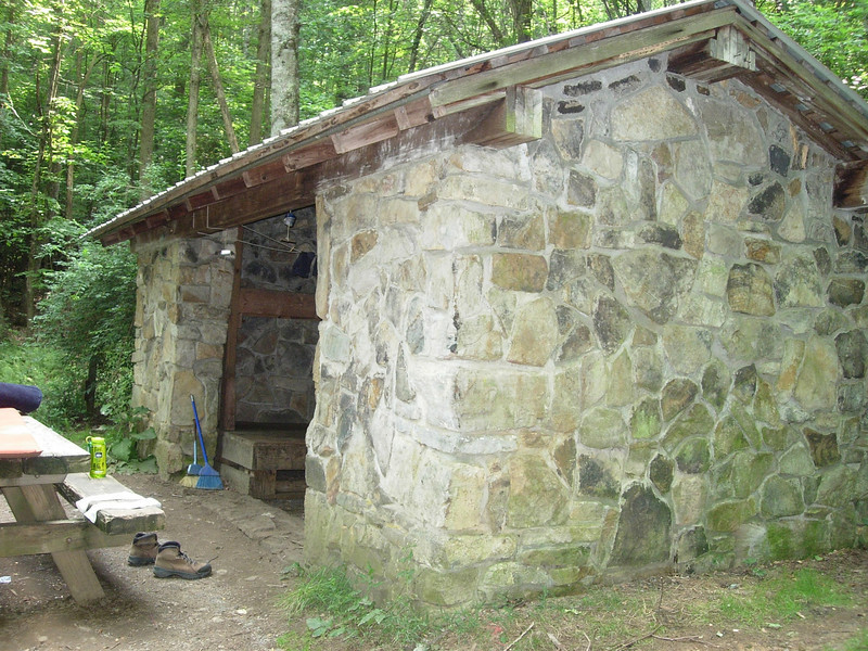 Trimpi shelter - we tented instead (rained that night)