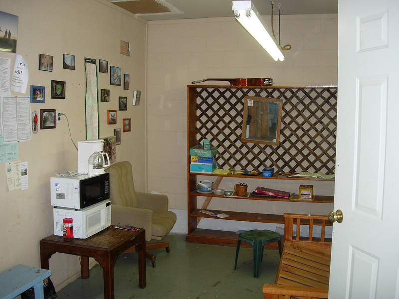 Sitting room of the hostel