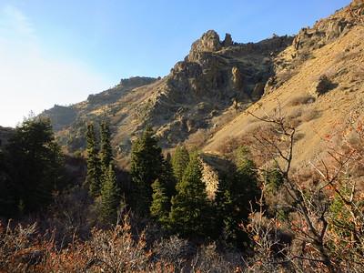Landscape views as we climb higher.