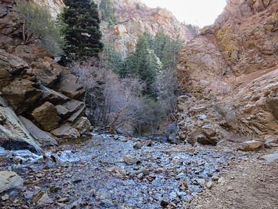 Last traverse crosses the creek...