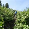 On the steep.  Photo:  Ulli