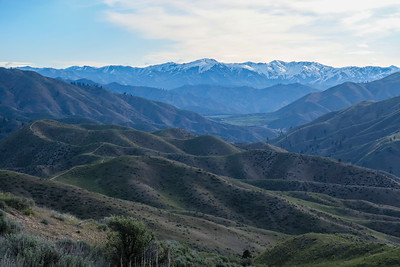 Trinity Mountains and Boise River basin to the north.