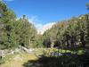 Camp at Fifth Lake on south ridge