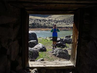 At the Halverson Bar stone hut.