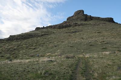 Uphill traverse.