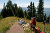 Our lunch stop about 500 feet short of the false summit.