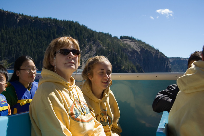Chris and Morgan on the tour boat