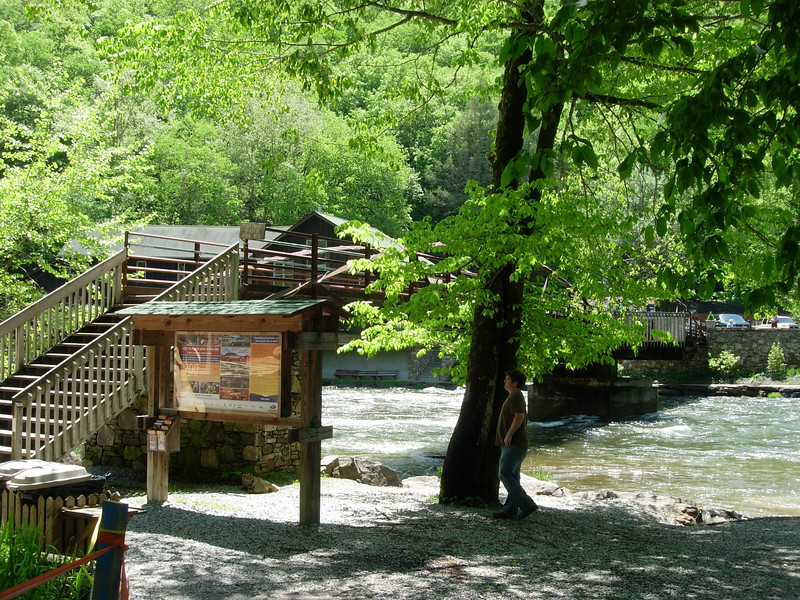 Wesser, NC.  The bridge over the Nantahala River at the Nantahala Outdoor Center (NOC).