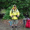 Me at Beech Gap.  The rain was tapering and I'm about to take off my jacket.