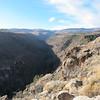 Looking at the Frijoles Canyon towards the west to the Jemez mountains.