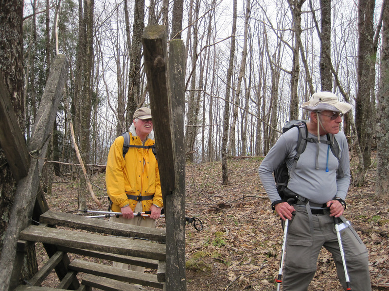 John G. and John L. at an old unused stile.