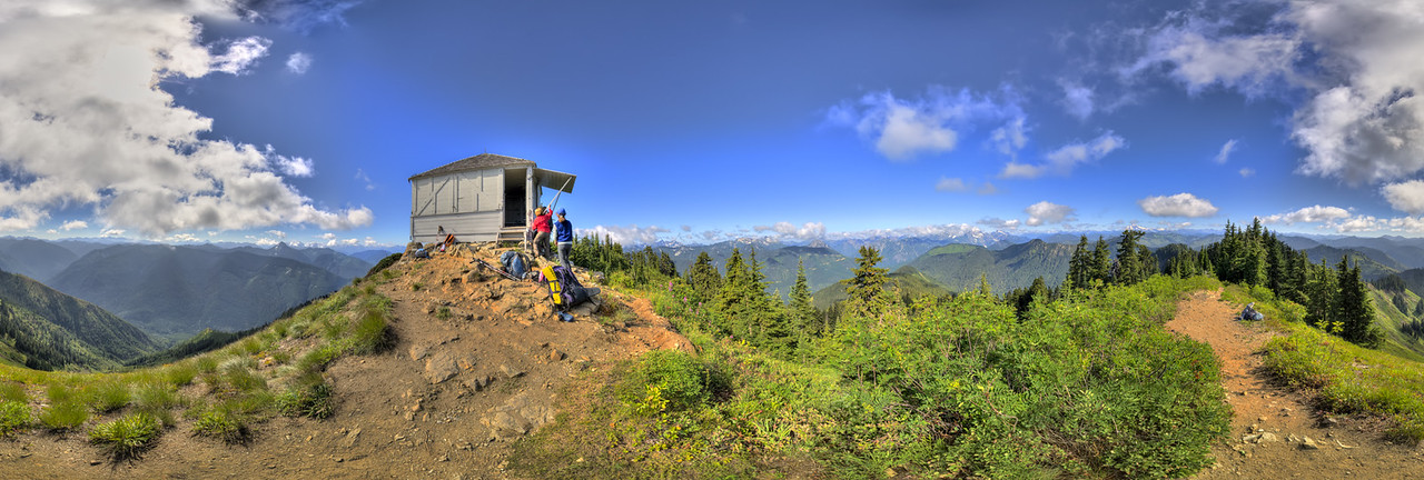 A 360 panoramic shot, NE view of the lookout