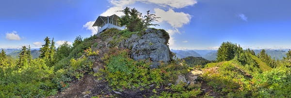 A 360 panoramic shot, SW view of the lookout