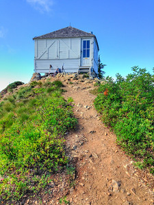 All shuttered and locked up, the lookout waits for the next overnight hikers.