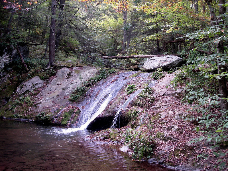 Waterfall on the Mill Prong trail.