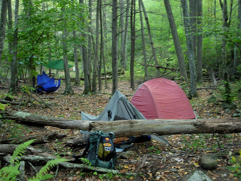 The campsite on the next morning.