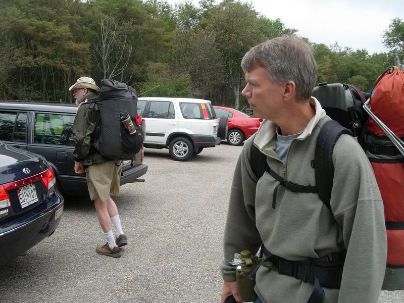 At the trailhead at Milam Gap.