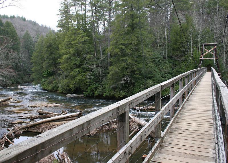 3/6/09 - The Taccoa River and the suspension bridge.