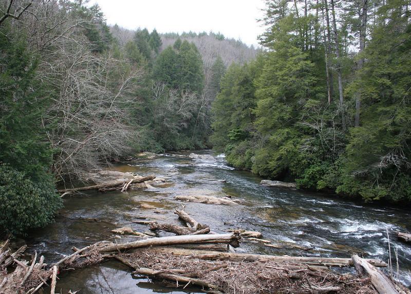 3/6/09 - The Taccoa River from the bridge.