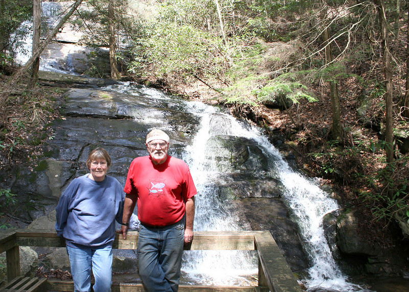 Mike and Susan at the waterfall