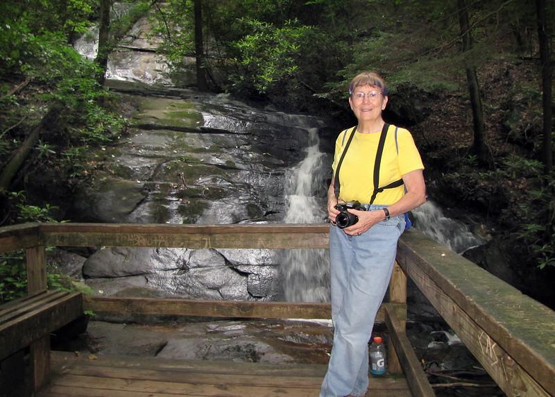 Susan at Fall Branch Falls