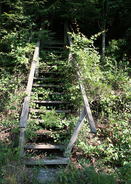 Stairs along the road leading to ???