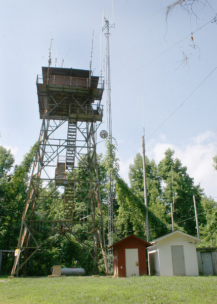 Fire tower along trail