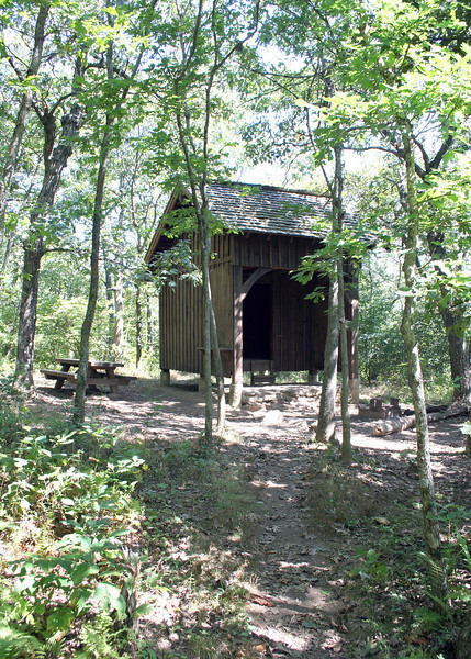 Shelter along the Appalachian Trail