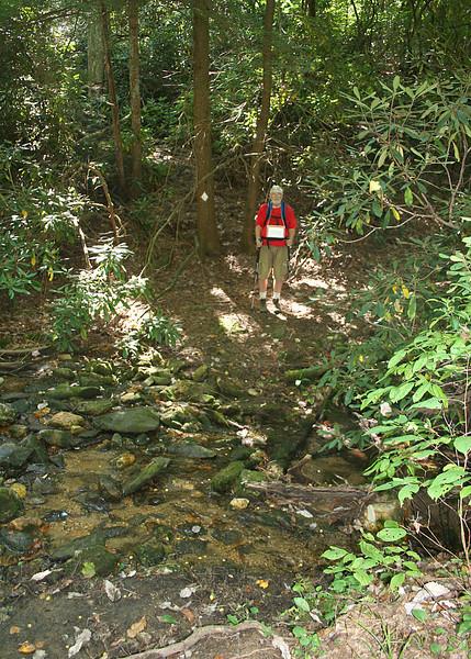 Mike at creek