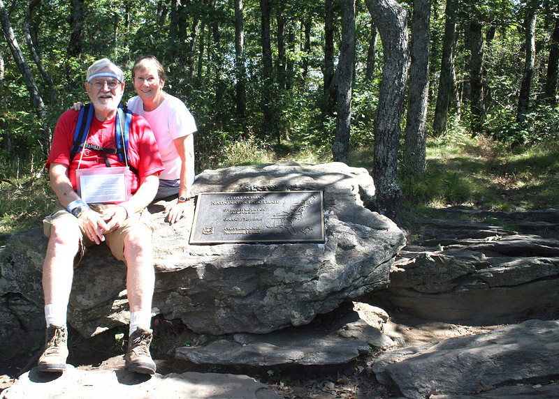 Mike and Susan at Springer Mountain, terminus of Appalachian Trail