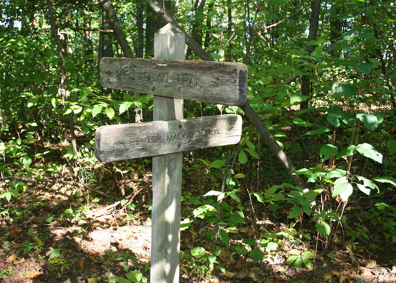 Benton MacKaye and Appalachian Trails sign