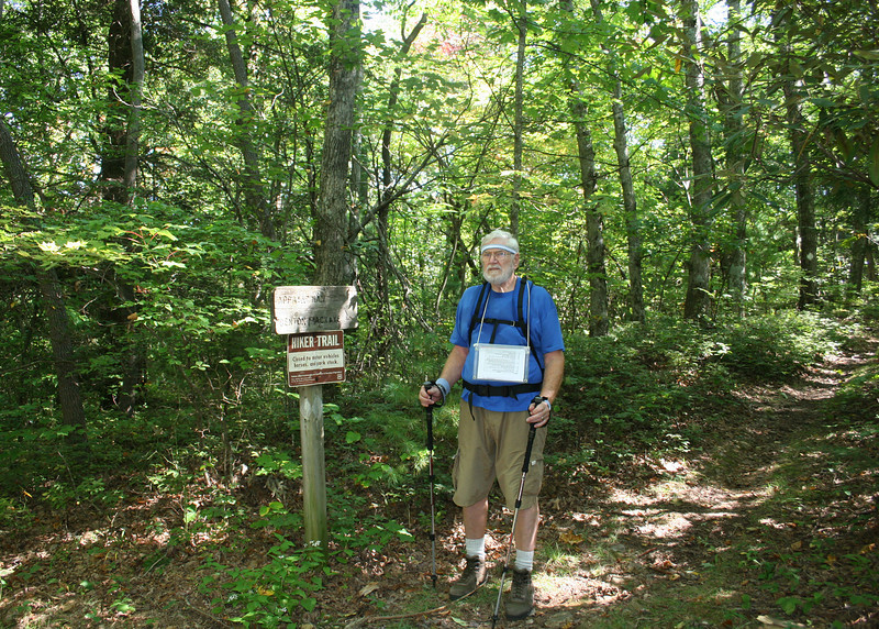 Mike at Benton MacKaye and Appalachian Trails sign