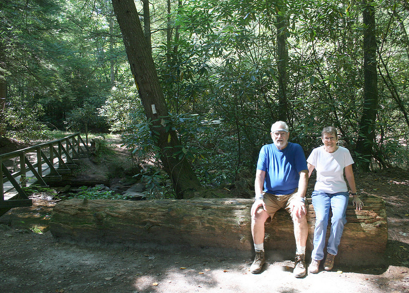 Mike and Susan at Three Forks with Chester Creek behind