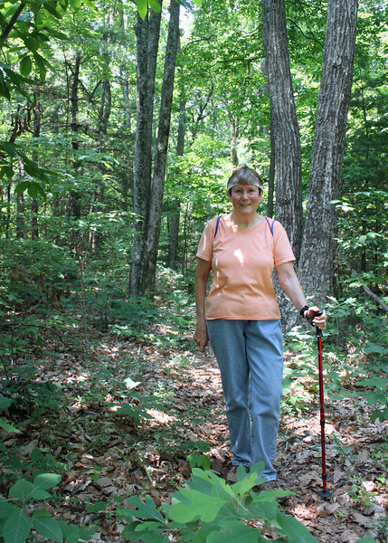 Susan along the trail