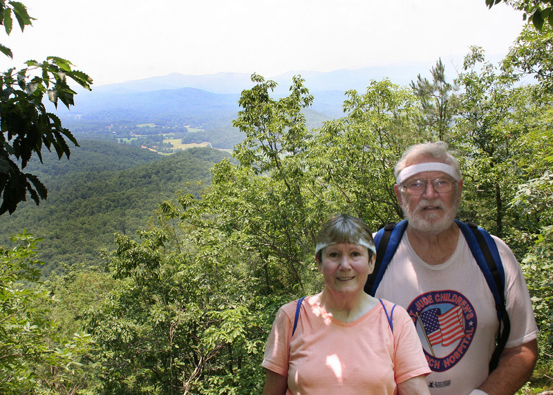 Mike and Susan with valley view behind