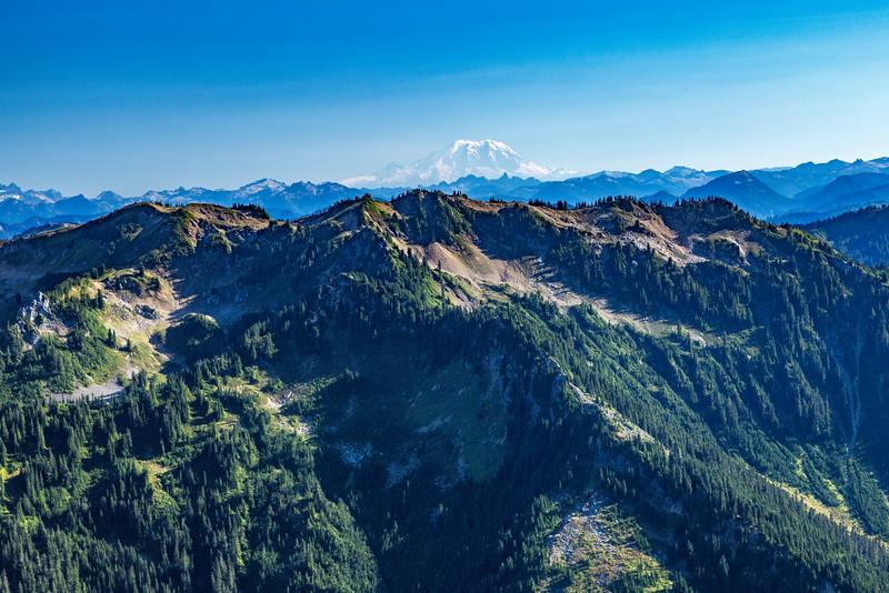 Mt Rainier from Red pass
