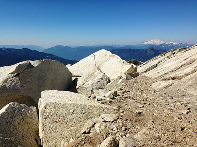 I say granite, you say gneiss, lets call the whole thing off. Mount Baker in the distance