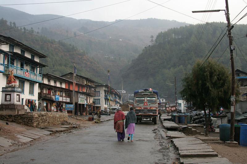 In Jiri, after a 5 hour drive from Kathmandu