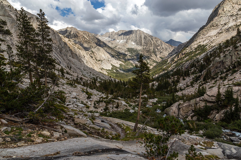 Trail view down Muir Pass 9-9-17_MG_4525